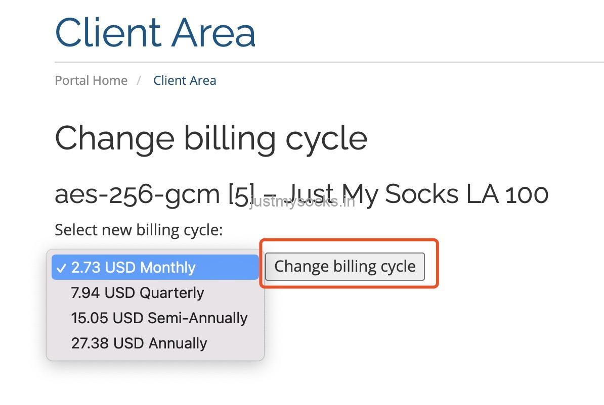 搬瓦工Just My Socks从月付升级成年付教程